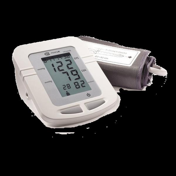 El tensiómetro YUWELL YE660B, cuenta con 74 memorias, adaptador a red eléctrica, 4 baterías tipo AA y un brazalete 22~45 para adulto y obeso.